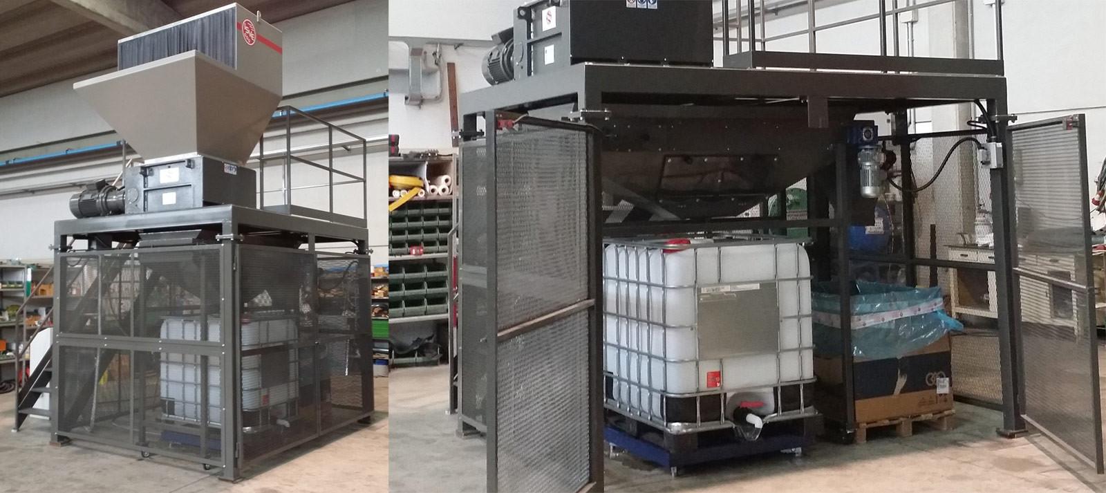 impianti di smaltimento confezioni